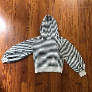 Lou and grey puff sleeve striped sweatshirt hoodie